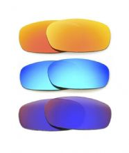 NEW POLARIZED CUSTOM FIRE/BLUE/RED LENS FOR OAKLEY SQUARE WIRE 2.0 SUNGLASSES